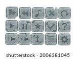 stone game cartoon vector...