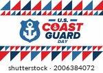 u.s. coast guard day in united...   Shutterstock .eps vector #2006384072
