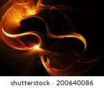 Fire Dance.abstract Ardent...
