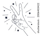 a gesture with the fingers of... | Shutterstock .eps vector #2006403422