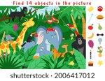 hidden object puzzle. kid...   Shutterstock .eps vector #2006417012