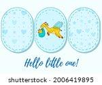 a postcard for a newborn. funny ... | Shutterstock .eps vector #2006419895