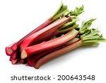 Rhubarb Isolated On White...