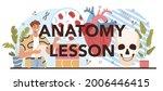 anatomy lesson typographic...   Shutterstock .eps vector #2006446415