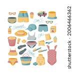 summer set for beach for... | Shutterstock .eps vector #2006466362