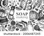 soap making ingredients frame...   Shutterstock .eps vector #2006487245