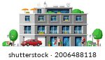 modern apartment building...   Shutterstock .eps vector #2006488118