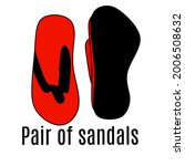 red pair of sandals graphic...   Shutterstock .eps vector #2006508632