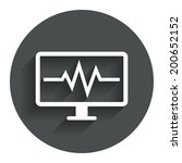 cardiogram monitoring sign icon....