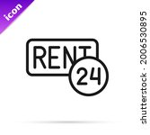 black line hanging sign with... | Shutterstock .eps vector #2006530895