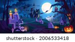 graveyard and high spooky... | Shutterstock .eps vector #2006533418