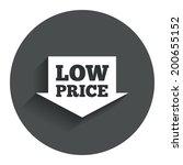 low price arrow sign icon....