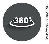 angle 360 degrees sign icon.... | Shutterstock .eps vector #200656238