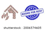 rooms for rent rubber stamp... | Shutterstock .eps vector #2006574605