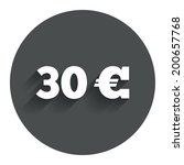 30 euro sign icon. eur currency ...