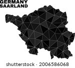 lowpoly saarland land map.... | Shutterstock .eps vector #2006586068