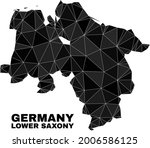 lowpoly lower saxony land map.... | Shutterstock .eps vector #2006586125