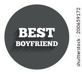 best boyfriend sign icon. award ...
