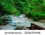 deep forest waterfall at erawan ... | Shutterstock . vector #200659448