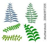 fern leaf. element of nature... | Shutterstock .eps vector #2006597255