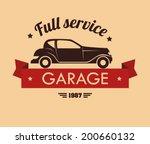 transport design over beige... | Shutterstock .eps vector #200660132