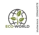 eco world icon. environmen  eco ... | Shutterstock .eps vector #2006634578