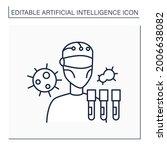 robot line icon. ai in medicine....   Shutterstock .eps vector #2006638082