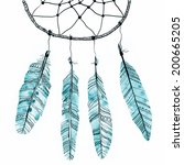 abstract dream catcher with... | Shutterstock . vector #200665205