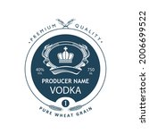 template vodka label with royal ... | Shutterstock .eps vector #2006699522