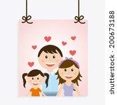 family design over white... | Shutterstock .eps vector #200673188