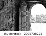 Open Door Of Old Stone House On ...