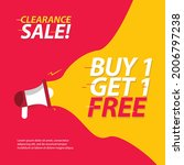 clearance sale banner template. ... | Shutterstock .eps vector #2006797238