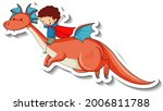 sticker template with superhero ...   Shutterstock .eps vector #2006811788