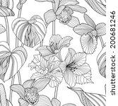 ilustración,creativa,exóticas,orquídea,saturado,tropical,fondo de pantalla,ceñido