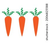 carrot icon. carrot symbol with ... | Shutterstock .eps vector #2006825588