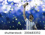 argentinian soccer player ... | Shutterstock . vector #200683352