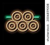 tree trunk pile neon light sign ... | Shutterstock .eps vector #2006859008