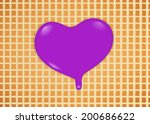 purple hearts dripping on... | Shutterstock . vector #200686622