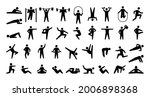 human sport icons. physical...   Shutterstock .eps vector #2006898368