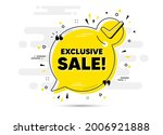 exclusive sale text. check mark ... | Shutterstock .eps vector #2006921888