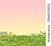 Green Glade. Summer Meadow....