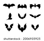 set of black silhouettes of... | Shutterstock .eps vector #2006935925