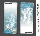 set of banner templates with... | Shutterstock .eps vector #200695058