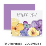 Watercolour Flowers Vector...