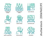 vaccination icons set gradient... | Shutterstock .eps vector #2006960195