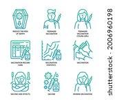 vaccination icons set gradient... | Shutterstock .eps vector #2006960198