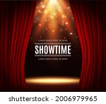 stage with red curtains ... | Shutterstock .eps vector #2006979965