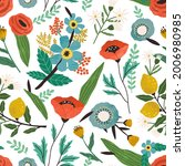 seamless floral pattern with...   Shutterstock .eps vector #2006980985