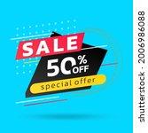 sale banner or poster template. ... | Shutterstock .eps vector #2006986088