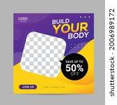 fitness gym social media post...   Shutterstock .eps vector #2006989172